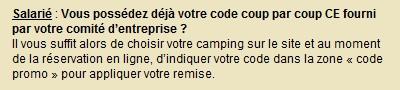 Salarié code CE coup par coup