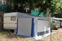 Camping de l'Ile d'Or, Wohnwagen ohne Sanitäreinrichtung