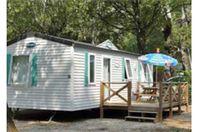 Au Vallon Rouge, Mobilheim mit Terrasse (Preis für 4 Personen)