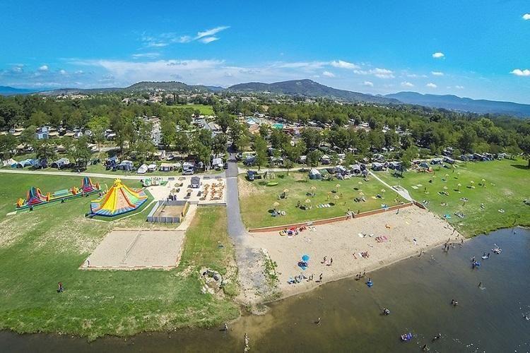 Camping La Plage Fleurie - Vue aérienne