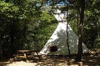 Camping des Randonneurs, Tipi ohne Küche und ohne Sanitäranlage