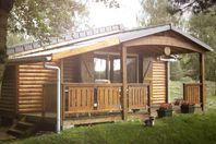 Camping Domaine du Lac de Miel, Chalet mit Terrasse