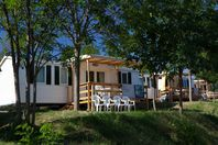 Ludo Camping, Mobil Home Terrasse