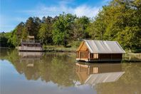 Domaine de l'Etang de Bazange, Wood and canvas floating tent without bathroom facilities