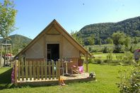 La Roche d'Ully, Canvas tent without bathroom facilities.